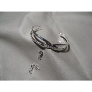 Beugel armband en oorbellen